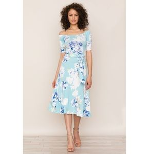 Yumi Kim Skip a Beat Floral off shoulder dress NWT
